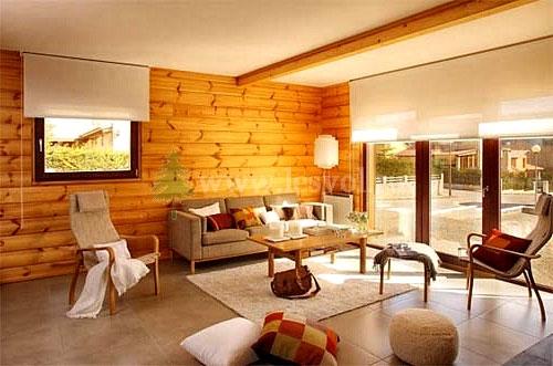 Интерьер дачи в деревянном доме фото