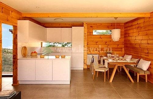 Дизайн интерьеров загородных домов из бревна