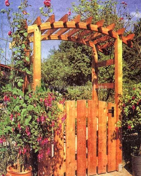 Калитка в сад своими руками