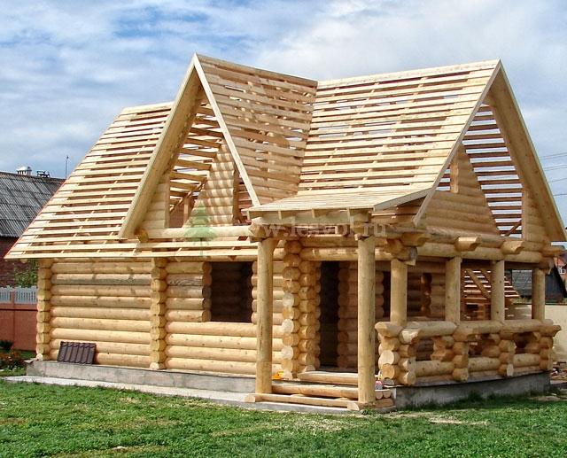 Строительство домов из бревна фото