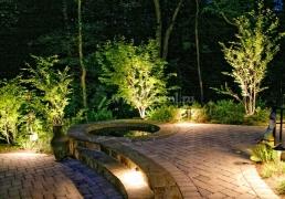 Наружное освещение сада и садовых дорожек на участке