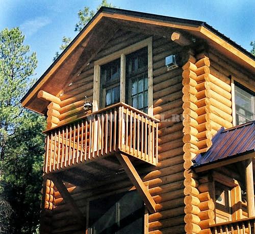 Балконы в деревянных домах.