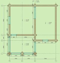 Первый этаж сруба. План первого этажа сруба