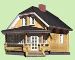 Проект деревянного дома 6м х 7м, 2 этажа