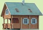 Проект деревянного дома 7,5м х 7,5м, 2 этажа