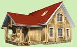 Проект деревянного дома 7м х 10м, 2 этажа